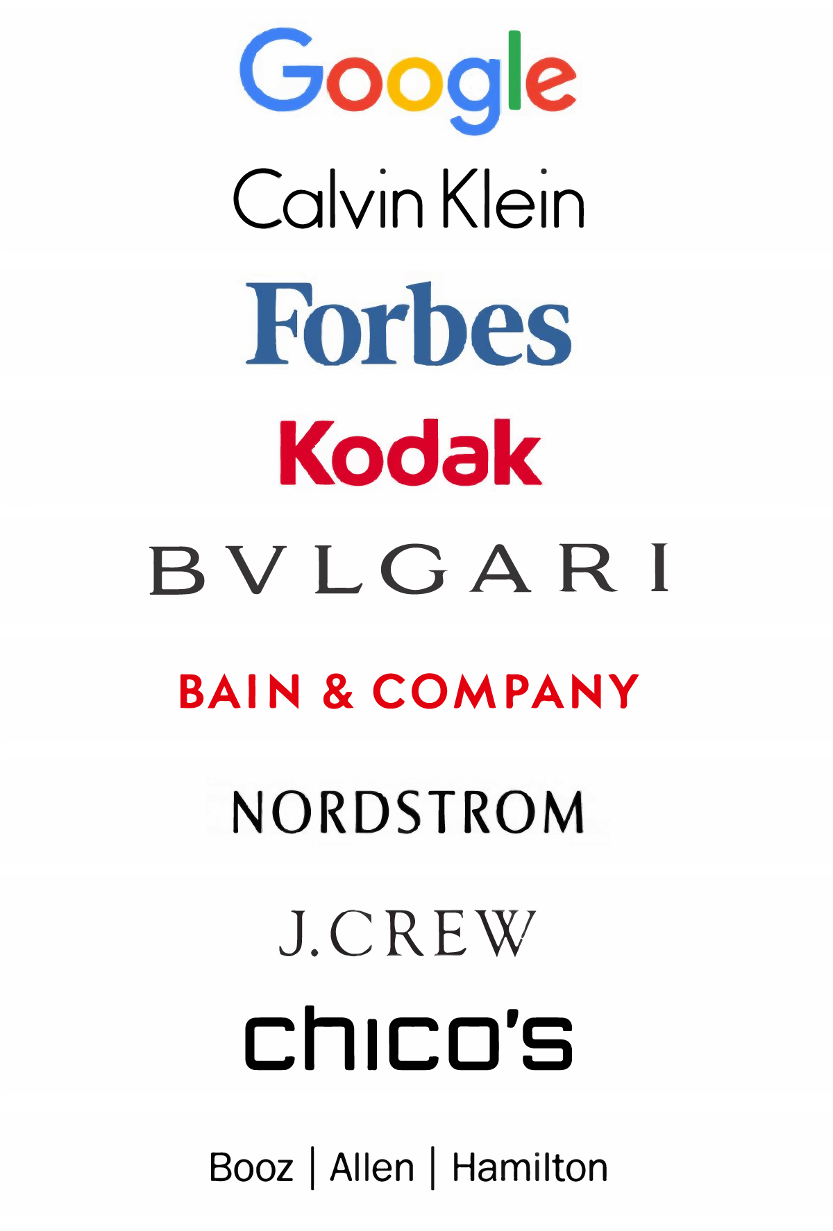 10 examples of world renowned companies with text only logos
